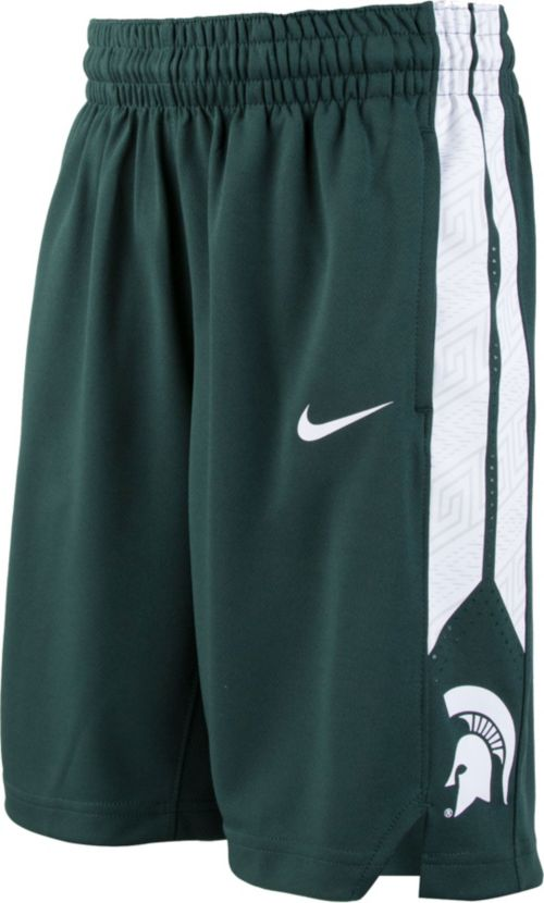 8e7b33591e2009 Nike Youth Michigan State Spartans Green Replica Basketball Shorts.  noImageFound. Previous