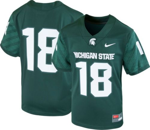 7be2c68be4a7 Nike Youth Michigan State Spartans  18 Green Game Football Jersey.  noImageFound. Previous