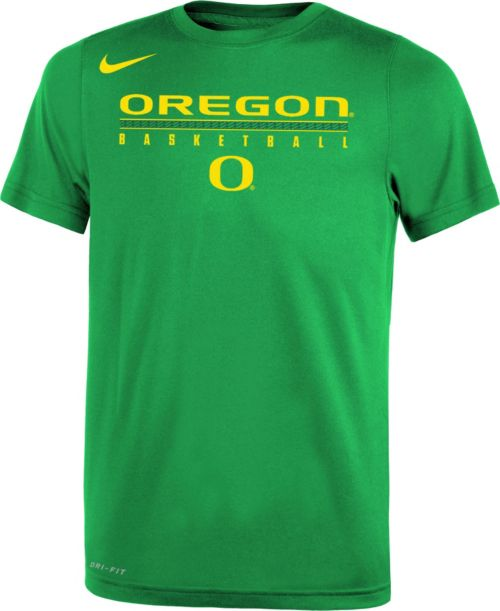 06dbc3a253d8 Nike Youth Oregon Ducks Green Legend Basketball T-Shirt