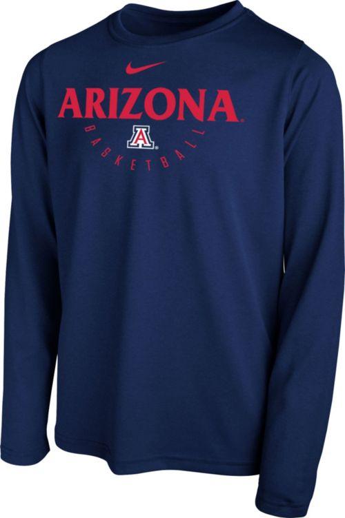 c792dcba4 Nike Youth Arizona Wildcats Navy Legend Basketball Long Sleeve Tee ...