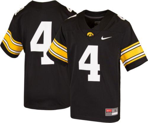 3a9bcfa47 Nike Youth Iowa Hawkeyes  4 Game Football Black Jersey. noImageFound.  Previous