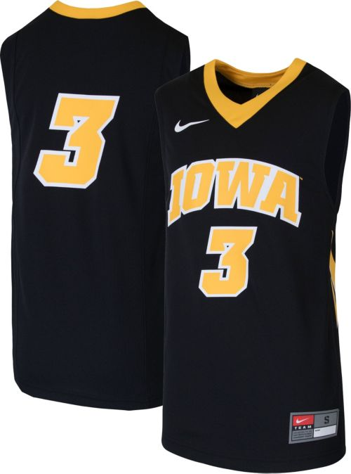 Nike Youth Iowa Hawkeyes  3 Replica Basketball Black Jersey. noImageFound.  Previous 28ea765bd