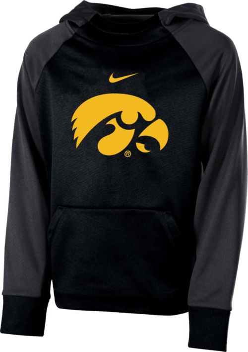 e327f9400680 Nike Youth Iowa Hawkeyes Black Therma Color Block Hoodie. noImageFound. 1