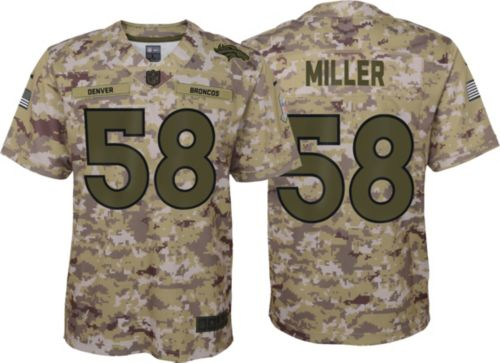119776de2c7 Nike Youth Salute to Service Denver Broncos Von Miller  58 Camouflage Home Game  Jersey. noImageFound. Previous