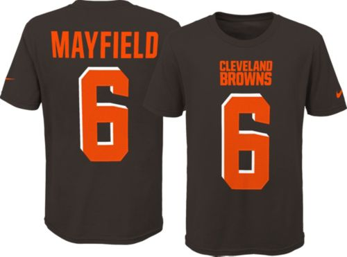 ad82625eda5 Nike Youth Cleveland Browns Baker Mayfield #6 Pride Brown T-Shirt.  noImageFound. Previous