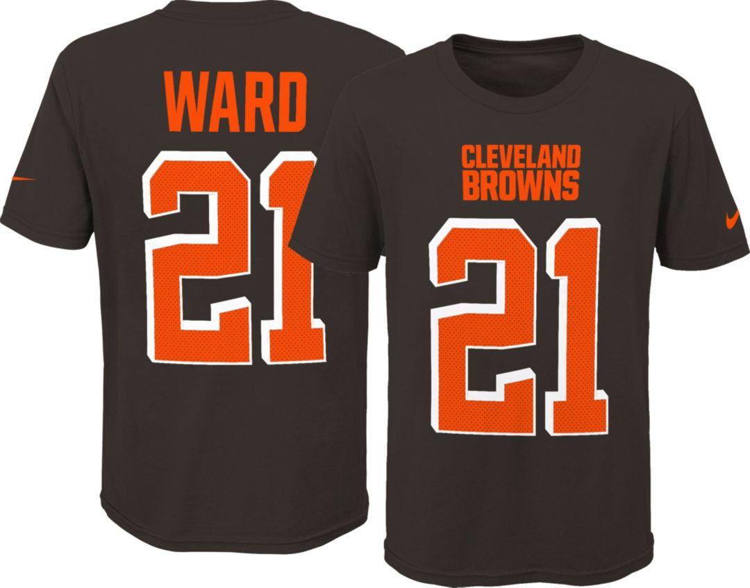 e4d3d3a8b Nike Youth Cleveland Browns Denzel Ward #21 Pride Wordmark Brown T-Shirt.  noImageFound. Previous