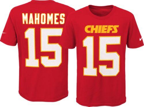 5a2fb89febd Nike Youth Kansas City Chiefs Patrick Mahomes #15 Pride Red T-Shirt ...