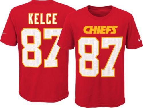 new styles 3b794 ec730 Nike Youth Kansas City Chiefs Travis Kelce #87 Pride Red T-Shirt