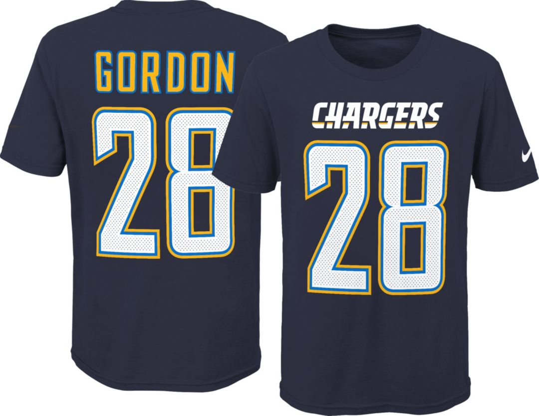 promo code 65203 2fb6a Nike Youth Los Angeles Chargers Melvin Gordon #28 Pride Navy T-Shirt