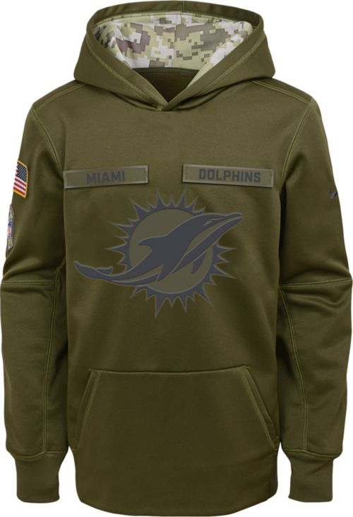 2d58ce663 Nike Youth Salute to Service Miami Dolphins Therma-FIT Olive Performance  Hoodie. noImageFound. Previous