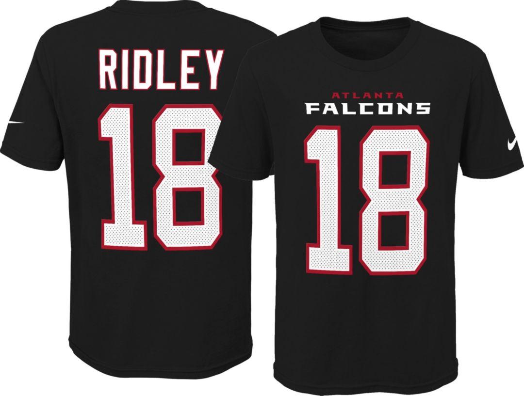 best service 7316e f388c Nike Youth Atlanta Falcons Calvin Ridley #18 Pride Black T-Shirt