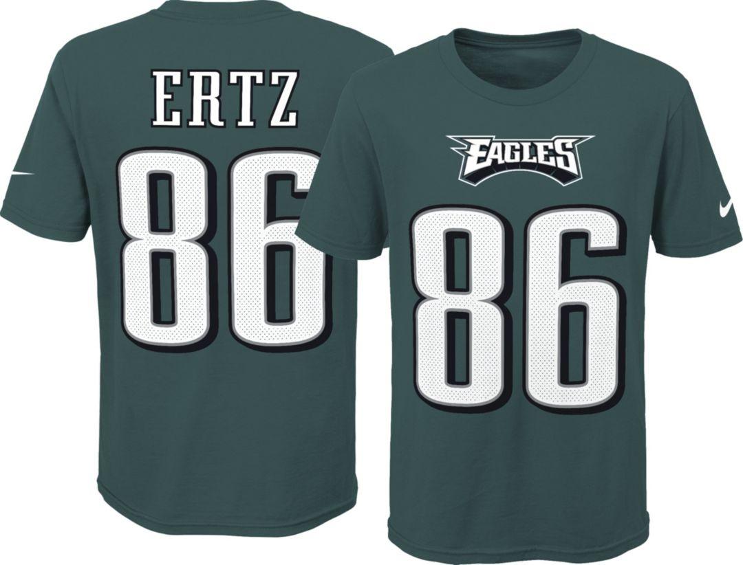 ef83559a Nike Youth Philadelphia Eagles Zach Ertz #86 Pride Green T-Shirt