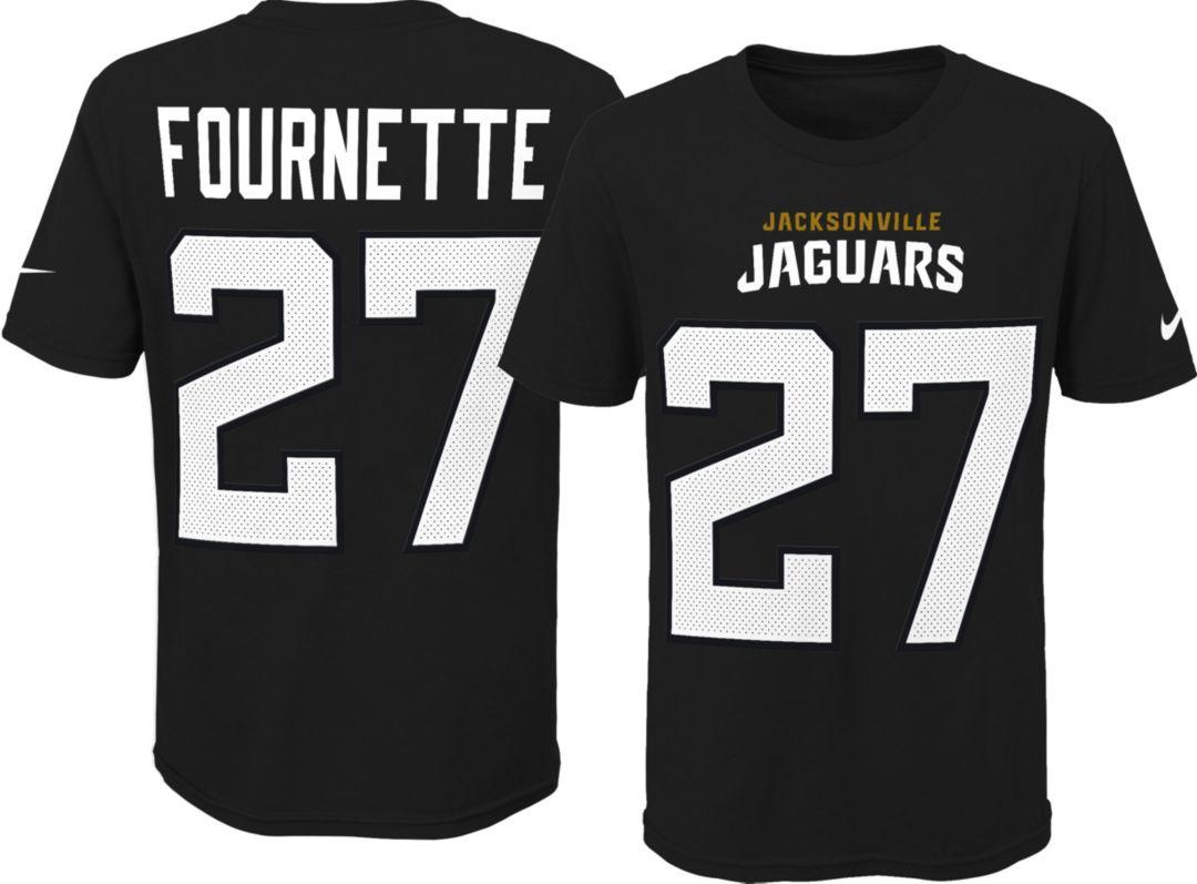 13ef37a7 Nike Youth Jacksonville Jaguars Leonard Fournette #27 Pride Black Player  T-Shirt