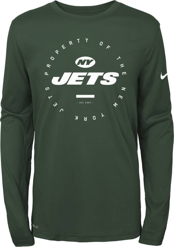 Nike Youth New York Jets Property Of Long Sleeve Green Shirt product image
