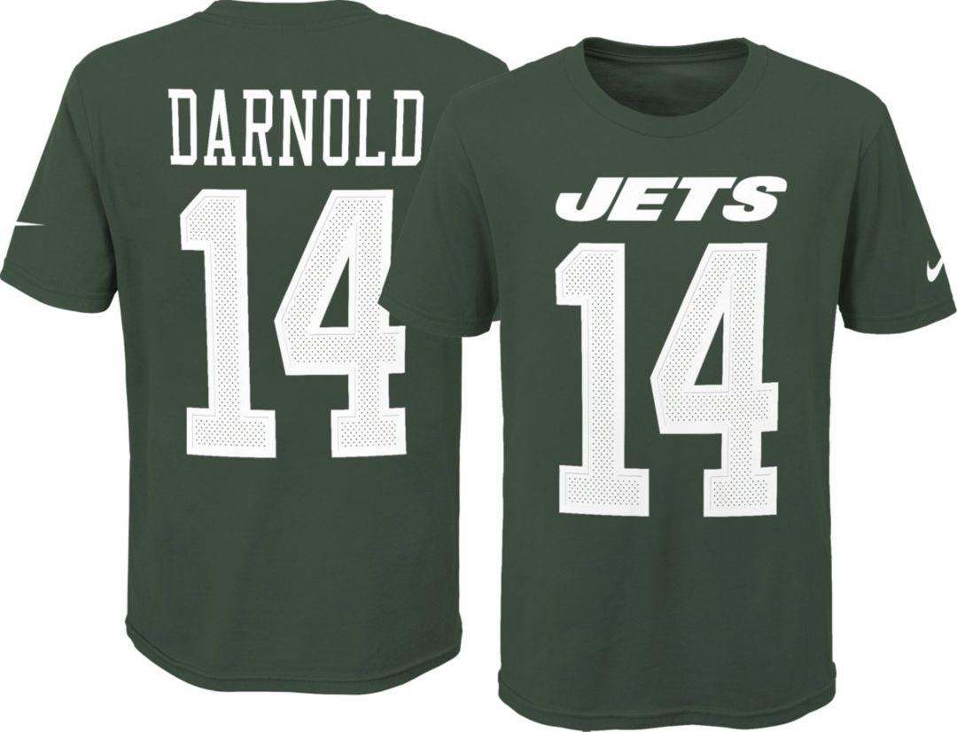 b867216e Nike Youth New York Jets Sam Darnold #14 Pride Green T-Shirt ...