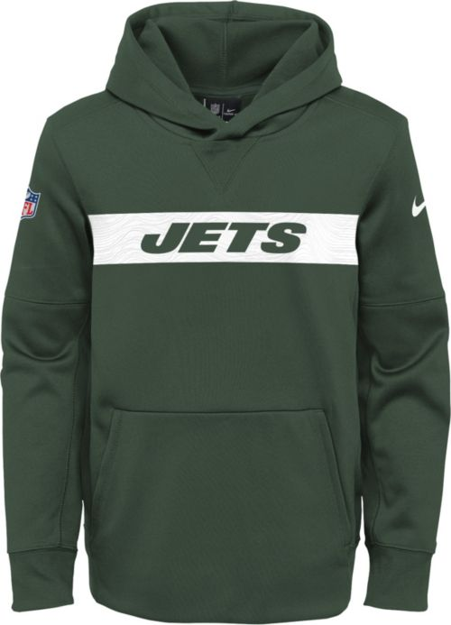 884e7147b21f Nike Youth New York Jets Sideline Therma-FIT Green Pullover Hoodie ...