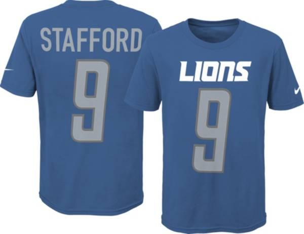 Nike Youth Detroit Lions Matt Stafford #9 Pride Blue T-Shirt product image