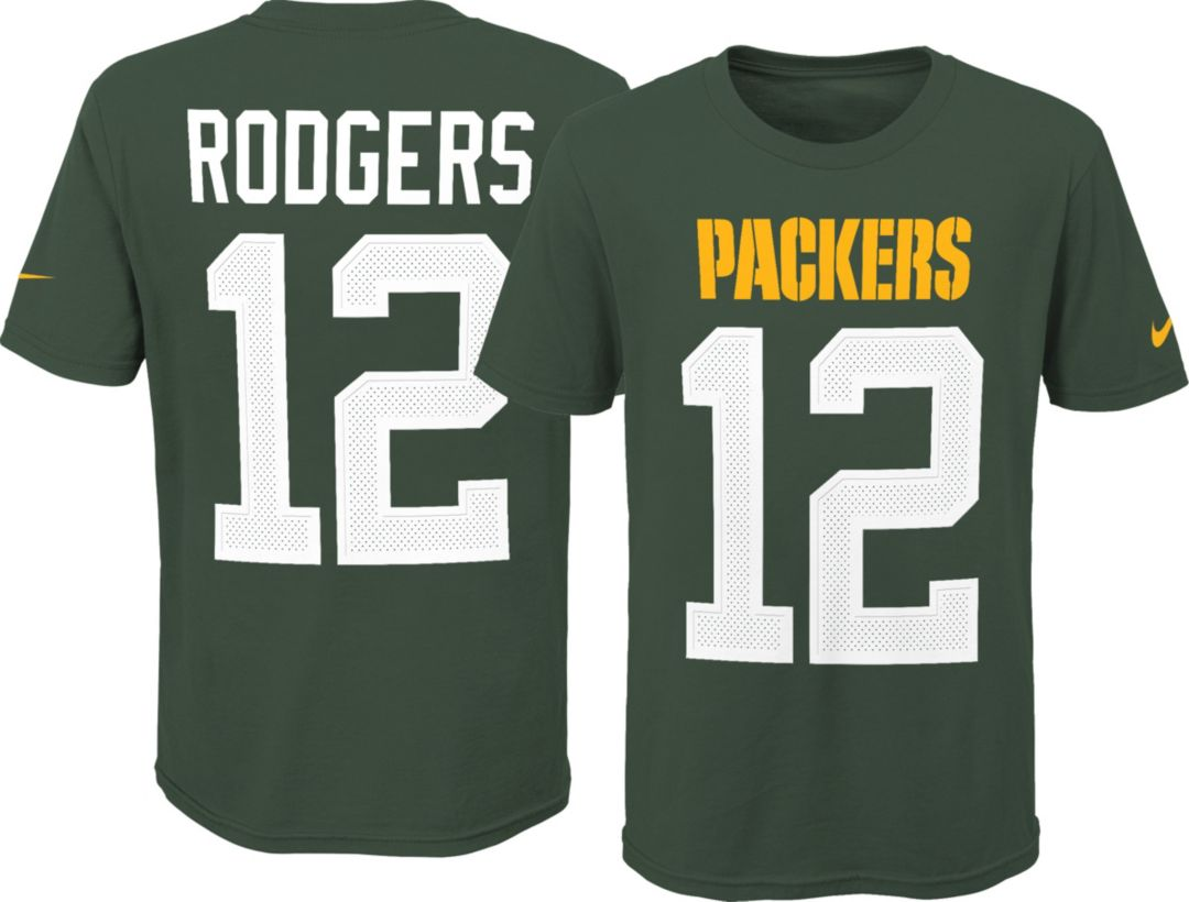 c3349c39 Nike Youth Green Bay Packers Aaron Rodgers #12 Pride Green Player T-Shirt