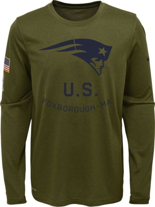 Nike Youth Salute to Service New England Patriots Legend Long Sleeve ... ca2829a71