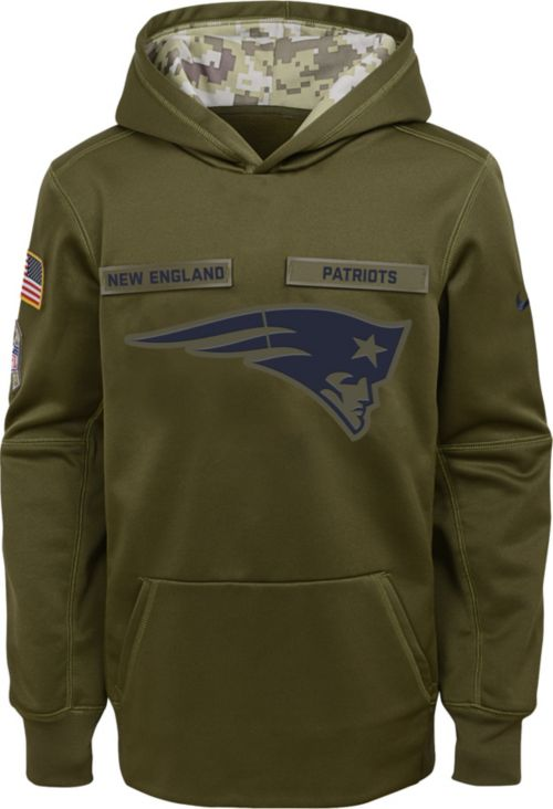 Nike Youth Salute to Service New England Patriots Therma-FIT Olive ... be90952c0