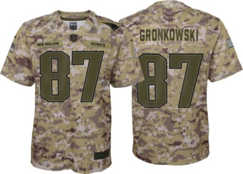 Nike Youth Salute to Service New England Patriots Rob Gronkowski  87  Camouflage Game Jersey. noImageFound. Previous 574ec13d7