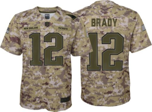 Nike Youth Salute to Service New England Patriots Tom Brady  12 Camouflage  Game Jersey. noImageFound. Previous d00babb87