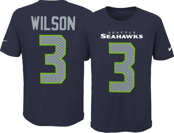 Nike Youth Seattle Seahawks Russell Wilson #3 Pride Navy T-Shirt product image