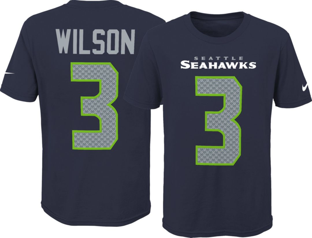3e6c3268f Nike Youth Seattle Seahawks Russell Wilson #3 Pride Navy T-Shirt.  noImageFound. Previous
