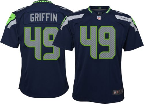 973e304a1 Shaquem Griffin  49 Nike Youth Seattle Seahawks Home Game Jersey ...