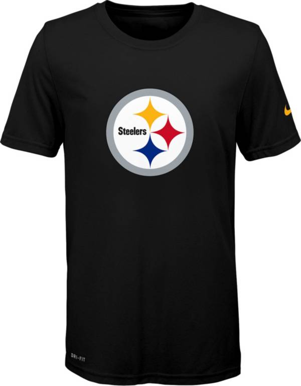 Nike Youth Pittsburgh Steelers Essential Logo Performance Black T-Shirt product image