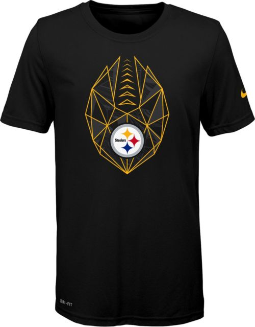 6c84d65301e Nike Youth Pittsburgh Steelers Icon Performance Black T-Shirt.  noImageFound. 1
