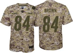 best service c5177 eba26 Nike Youth Salute to Service Pittsburgh Steelers Antonio Brown #84  Camouflage Game Jersey
