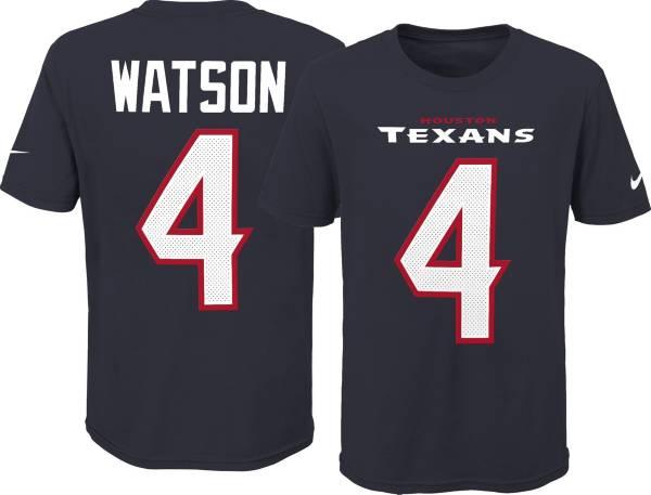 Nike Youth Houston Texans Deshaun Watson #4 Pride Navy Player T-Shirt product image