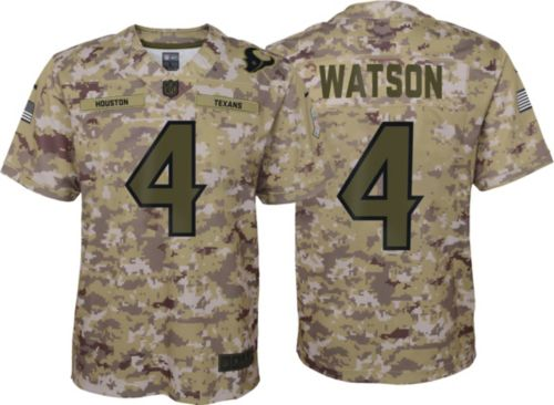 Nike Youth Salute to Service Houston Texans Deshaun Watson  4 Camouflage  Home Game Jersey. noImageFound. Previous cdbff16e2