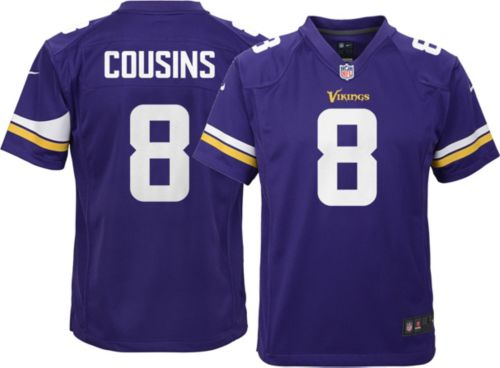 9709eefcc Nike Youth Home Game Jersey Minnesota Vikings Kirk Cousins  8 ...