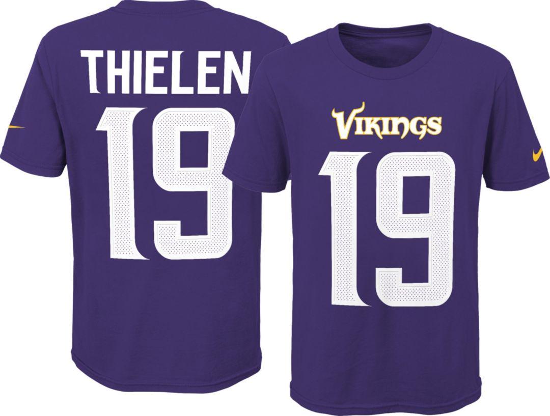 0649baa55 Nike Youth Minnesota Vikings Adam Thielen #19 Pride Purple Player T-Shirt