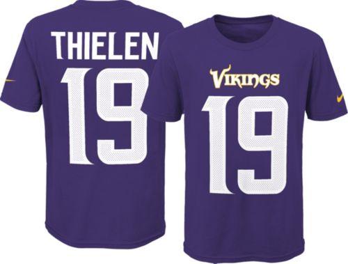 3a97a45b0e3 Nike Youth Minnesota Vikings Adam Thielen  19 Pride Purple Player T-Shirt.  noImageFound. Previous