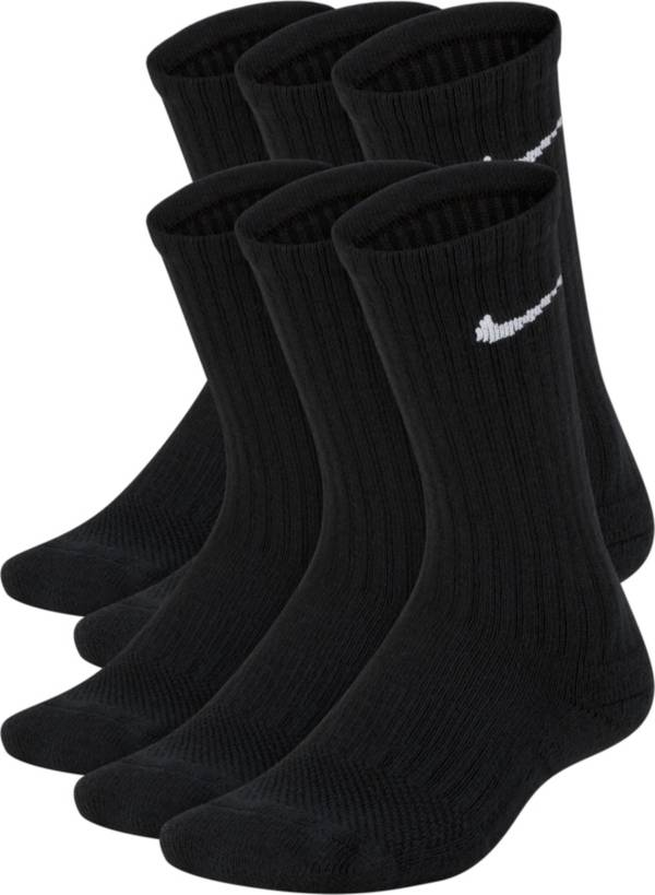 Nike Kids' Performance Cushioned Crew Training Socks - 6 Pack product image