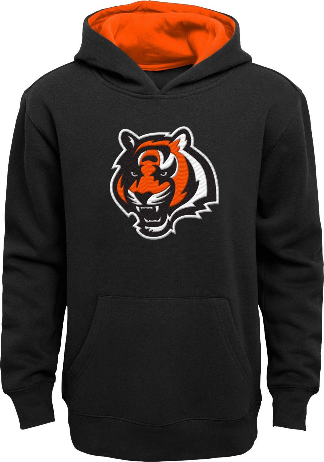 a0a0cba0 NFL Team Apparel Boys' Cincinnati Bengals Prime Black Pullover Hoodie