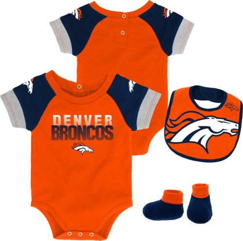 cc8d4bdb093 NFL Team Apparel Infant Denver Broncos 50-Yard Onesie Set. noImageFound.  Previous
