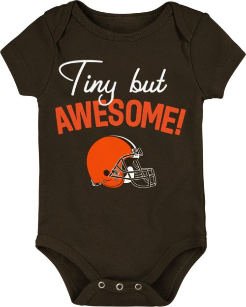 f56d1e29f76 NFL Team Apparel Infant Cleveland Browns Awesome Brown Onesie.  noImageFound. 1