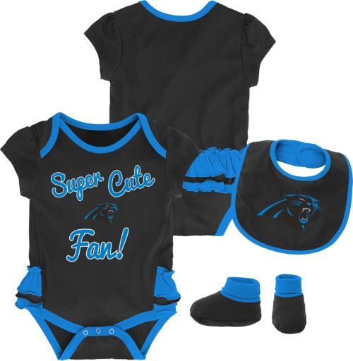 NFL Team Apparel Infant Girls  Carolina Panthers Trifecta Onesie Set.  noImageFound. Previous 9c1b59025