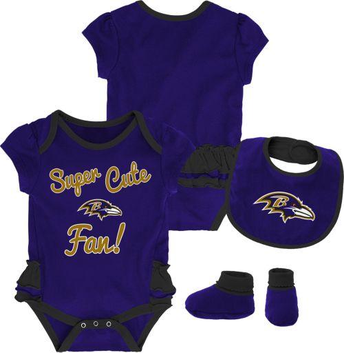 e820ca517c3 NFL Team Apparel Infant Girls  Baltimore Ravens Trifecta Onesie Set.  noImageFound. Previous