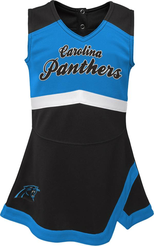 NFL Team Apparel Toddler Carolina Panthers Cheer Jumper Dress product image