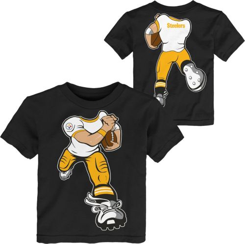 7864bbc1d NFL Team Apparel Toddler Pittsburgh Steelers Rush Black T-Shirt ...