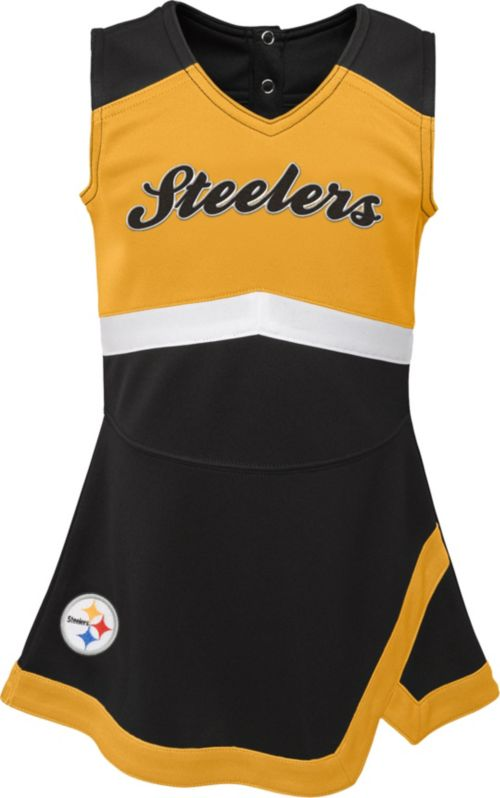 43e6bed39008 NFL Team Apparel Toddler Pittsburgh Steelers Cheer Jumper Dress ...