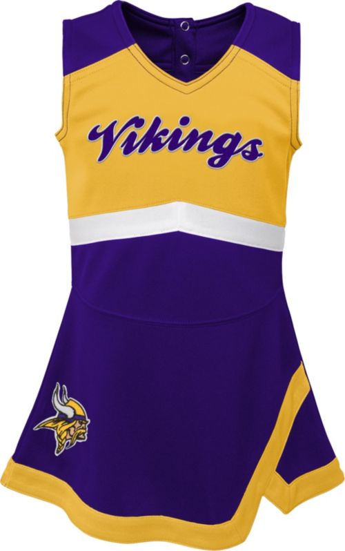 NFL Team Apparel Toddler Minnesota Vikings Cheer Jumper Dress ... a108abf75