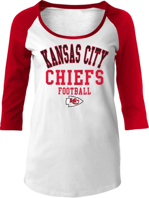 NFL Team Apparel Women s Kansas City Chiefs Tri-Blend Football Red ... f69aeb654