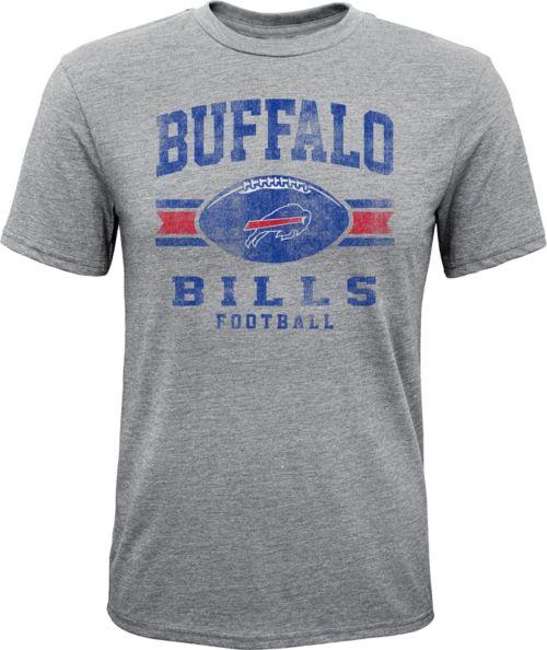 f457bc779 NFL Team Apparel Youth Buffalo Bills Pride Tri-Blend Grey T-Shirt ...
