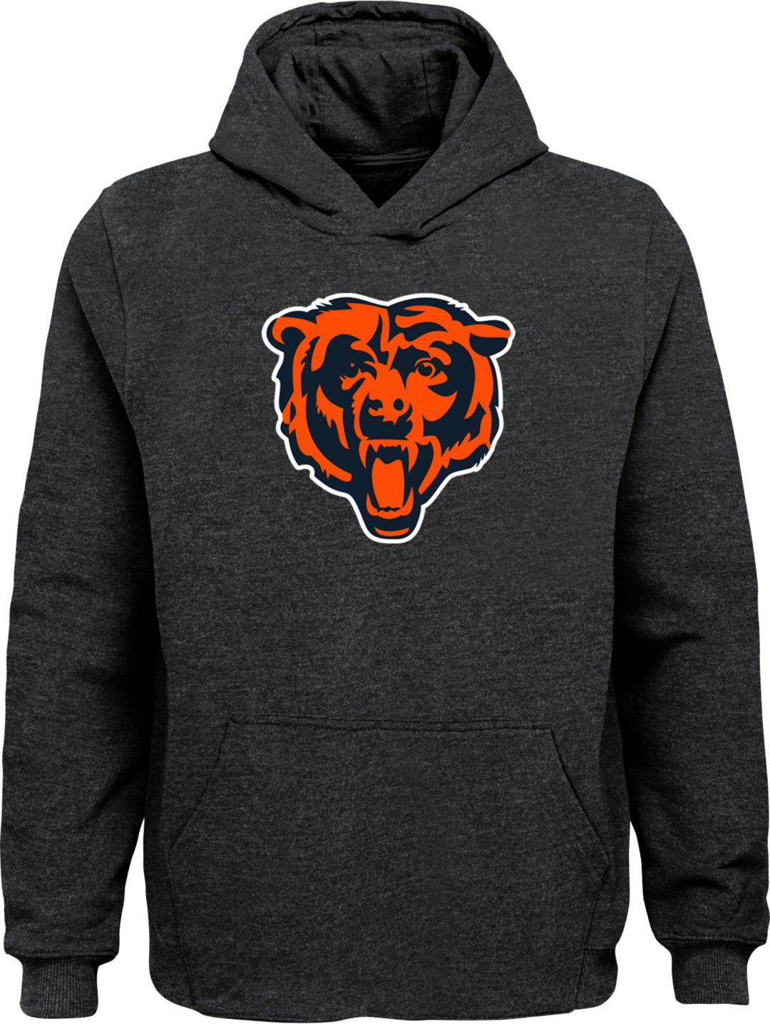 buy popular ce2ff fc959 NFL Team Apparel Youth Chicago Bears Logo Grey Hoodie